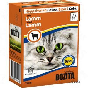 ZOOSHOP.ONLINE - Zoopreču internetveikals - Bozita kaķu konservi 370g jērs želejā