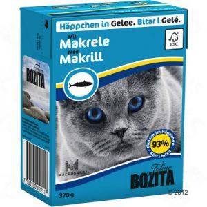 ZOOSHOP.ONLINE - Zoopreču internetveikals - Bozita kaķu konservi 370g makrele želejā