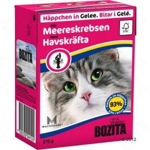 ZOOSHOP.ONLINE - Zoopreču internetveikals - Bozita kaķu konservi 370g omārs želejā x 6