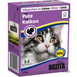 ZOOSHOP.ONLINE - Zoopreču internetveikals - Bozita kaķu konservi 370g tītars želejā x 6
