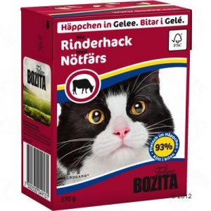 ZOOSHOP.ONLINE - Интернет-магазин зоотоваров - Bozita консервы для кошек 370g Говяжий фарш в желе x 6