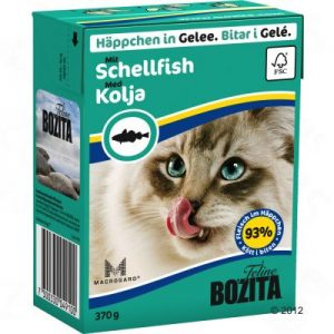 ZOOSHOP.ONLINE - Zoopreču internetveikals - Bozita kaķu konservi 370g pikša želejā x 6