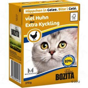 ZOOSHOP.ONLINE - Zoopreču internetveikals - Bozita kaķu konservi 370g vista želejā x 6
