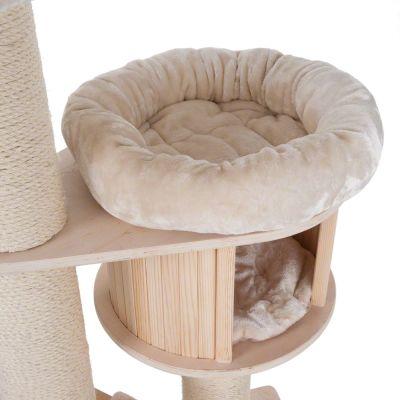 ZOOSHOP.ONLINE - Zoopreču internetveikals - Kaķu māja Naturala Paradīze XL Premium izlaidums bēšs