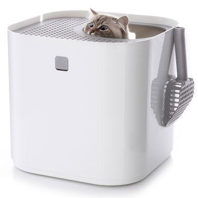 ZOOSHOP.ONLINE - Интернет-магазин зоотоваров - Modkat туалет для кошек БЕЛЫЙ
