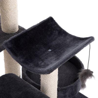ZOOSHOP.ONLINE - Zoopreču internetveikals - Kaķu māja Penelope tumši pelēka