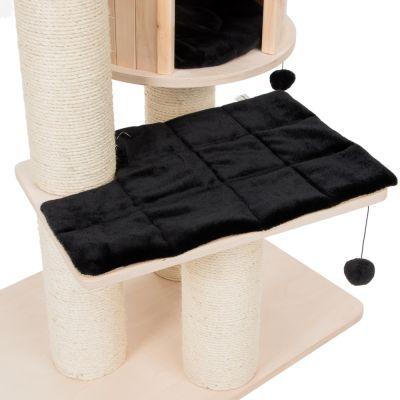 ZOOSHOP.ONLINE - Интернет-магазин зоотоваров - Кошачий дом Натуральный рай XL Премиум-выпуск черный