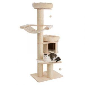 ZOOSHOP.ONLINE - Zoopreču internetveikals - Kaķu māja Natural paradiz XL Standarts bēša