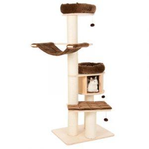 ZOOSHOP.ONLINE - Zoopreču internetveikals - Kaķu māja Naturala Paradīze XL Premium izlaidums brūna