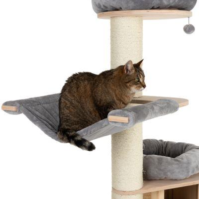 ZOOSHOP.ONLINE - Zoopreču internetveikals - Kaķu māja Naturala Paradīze XL Premium izlaidums pelēka