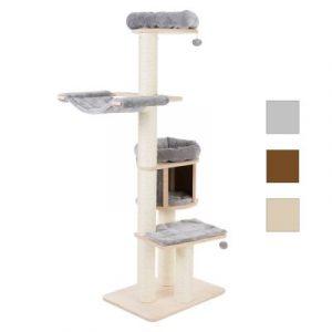ZOOSHOP.ONLINE - Zoopreču internetveikals - Kaķu māja Naturala Paradize XL Kompakta pelēka