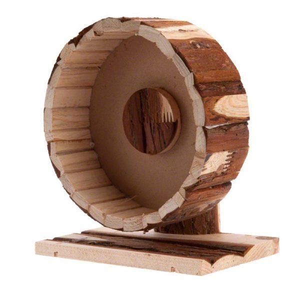 ZOOSHOP.ONLINE - Интернет-магазин зоотоваров - Trixie Беговое колесо деревянное Speedy Ø 20 см