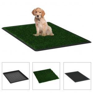 ZOOSHOP.ONLINE - Интернет-магазин зоотоваров - Туалет для домашних животных с поддоном и искусственным покрытием 64 x 51 x 3 см
