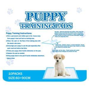 ZOOSHOP.ONLINE - Zoopreču internetveikals - Antibakteriālie vienreizējie paladziņi dzīvniekiem - Puppy Training Pads 60 х 90mm 10pcs