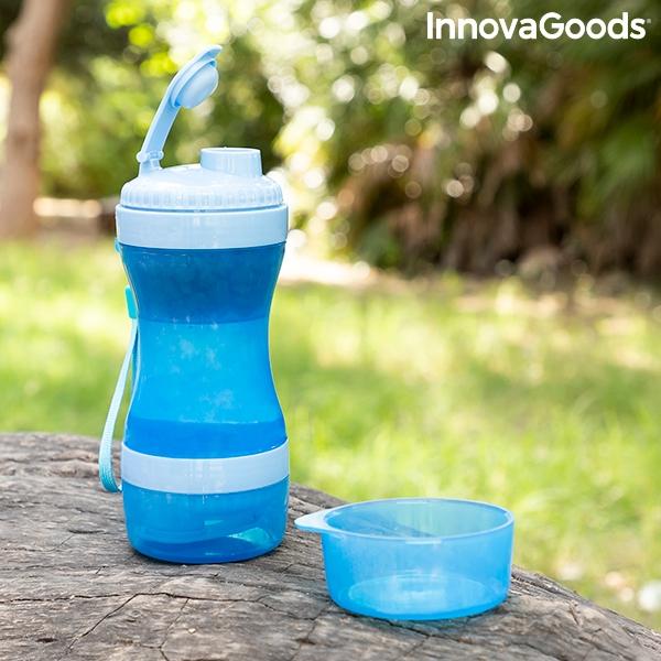 ZOOSHOP.ONLINE - Zoopreču internetveikals - Suņa pudele 2 vienā ar ūdenS un pārtikas tvertni