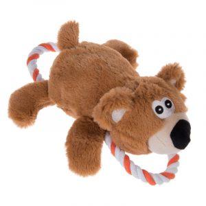 ZOOSHOP.ONLINE - Zoopreču internetveikals - Suņu rotaļlieta lācis ar virvju cilpām