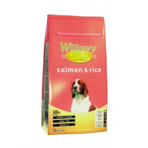 ZOOSHOP.ONLINE - Интернет-магазин зоотоваров - Сухой корм для всех собак с лососем и рисом Willowy Gold Salmon & Rice Dog Adult 10 кг