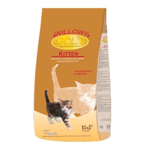 ZOOSHOP.ONLINE - Zoopreču internetveikals - Sausā barība kaķēniem gaļas mikss Willowy Gold Kitten 10 kg