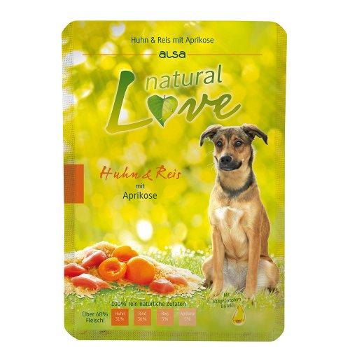 ZOOSHOP.ONLINE - Zoopreču internetveikals - Konservi suņiem ar vistas gaļu un rīsiem Alsa natural Love Dog Adult Chicken & Rice 6x300 gr