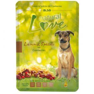 ZOOSHOP.ONLINE - Zoopreču internetveikals - Konservi suņiem ar jēra gaļu Alsa natural Love Dog Adult Lamb 6x300 gr
