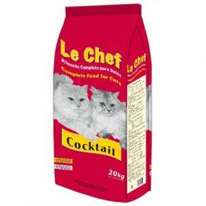 ZOOSHOP.ONLINE - Интернет-магазин зоотоваров - Сухой корм для взрослых кошек сo вкусом курицы и рыбы Le Chef Coctail Cat Adult 20 кг
