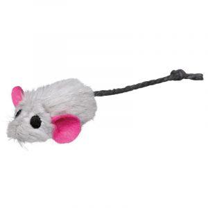 ZOOSHOP.ONLINE - Zoopreču internetveikals - Rotaļlieta kaķiem pelīte Trixie ar kaķumētru, pelēka