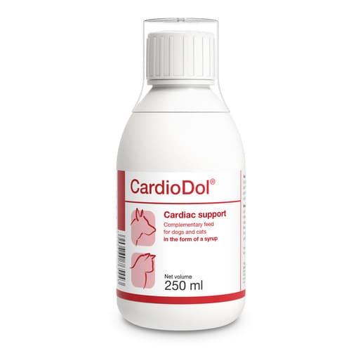 ZOOSHOP.ONLINE - Интернет-магазин зоотоваров - Пищевая добавка DOLVIT CardioDol Dog Cat 250 ml поддерживает функцию сердца