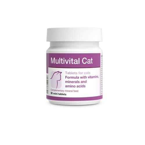 ZOOSHOP.ONLINE - Интернет-магазин зоотоваров - Пищевая добавка - Минерально-витаминно-аминокислотные таблетки для кошек DOLVIT Multivital Cat 90 tab