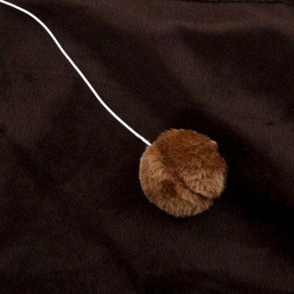 ZOOSHOP.ONLINE - Zoopreču internetveikals - Nagu asināmais paklājiņš Patchwork brūns/bēšs, ar pelītēm