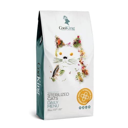 ZOOSHOP.ONLINE - Zoopreču internetveikals - Sausā barība sterilizētiem kaķiem ar putnu gaļu CooKing Cat Adult 8 kg