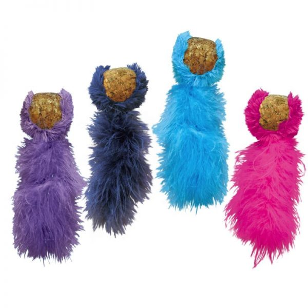 ZOOSHOP.ONLINE - Zoopreču internetveikals - Rotaļlieta kaķiem ar dabīga korķa bumbu KONG Cat Cork Ball