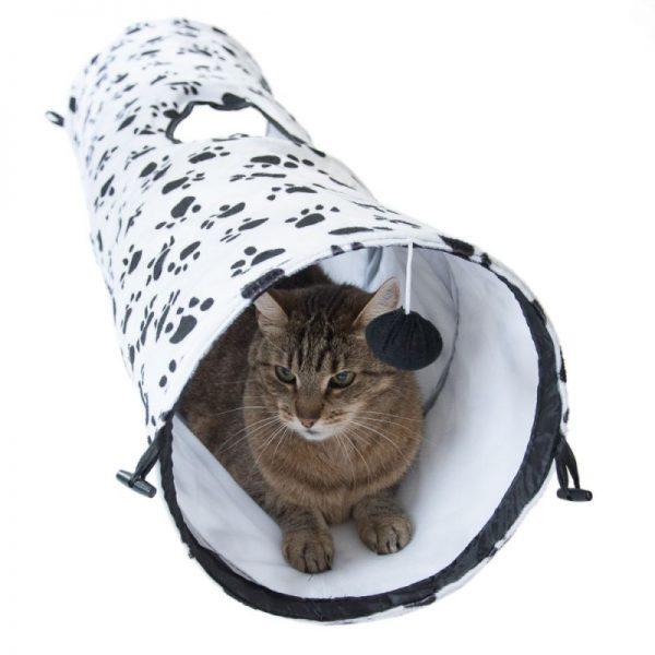 ZOOSHOP.ONLINE - Интернет-магазин зоотоваров - Туннель для кошек 100 см, с цветным орнаментом