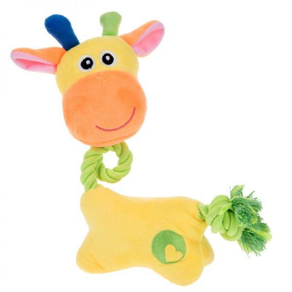 ZOOSHOP.ONLINE - Интернет-магазин зоотоваров - Мягкая игрушка с верёвкой Sunny, жираф
