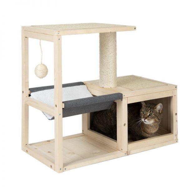 ZOOSHOP.ONLINE - Интернет-магазин зоотоваров - Домик для кошек Modern Living Bora Bora серый H 60 см