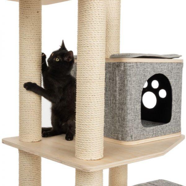 ZOOSHOP.ONLINE - Интернет-магазин зоотоваров - Домик для кошек Modern Living Havana серый H 155 см
