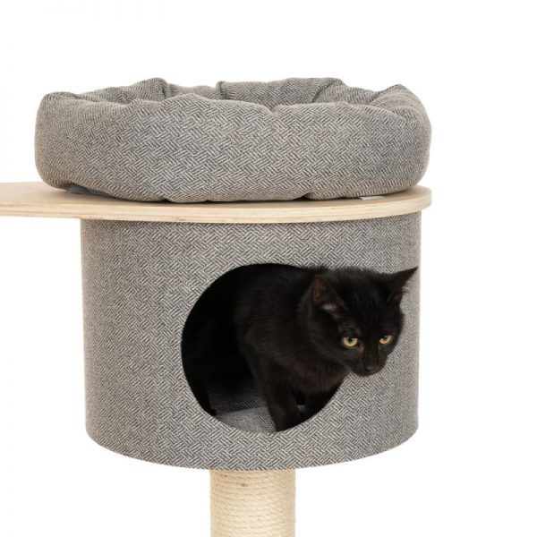 ZOOSHOP.ONLINE - Zoopreču internetveikals - Kaķu māja Modern Living Ferrara pelēka H 162 cm
