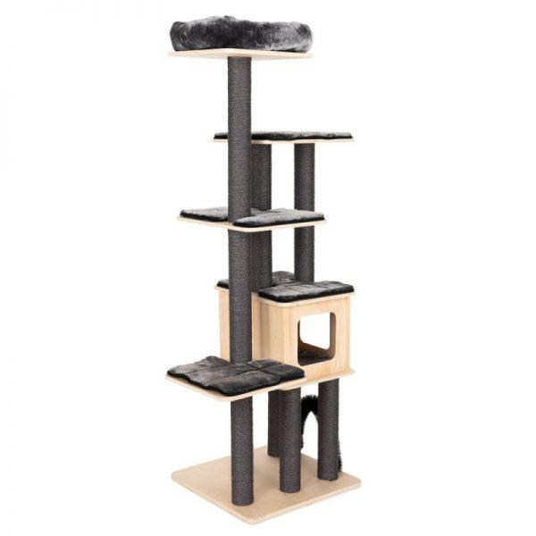 ZOOSHOP.ONLINE - Zoopreču internetveikals - Kaķu māja Modern Living Chelsea tumši pelēka H 185 cm