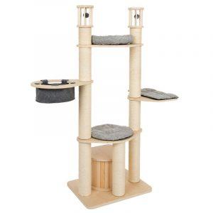 ZOOSHOP.ONLINE - Интернет-магазин зоотоваров - Домик для кошек Modern Living Aruba серый H 172 см