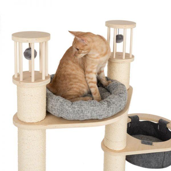 ZOOSHOP.ONLINE - Zoopreču internetveikals - Kaķu māja Modern Living Aruba pelēka H 172 cm