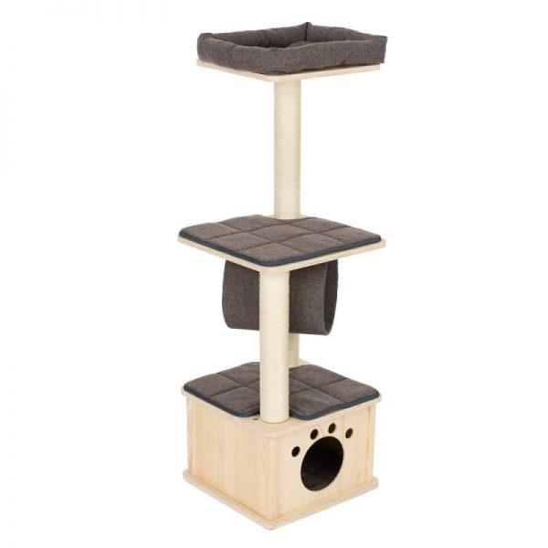 ZOOSHOP.ONLINE - Zoopreču internetveikals - Kaķu māja Modern Living Iona pelēka H 116 cm