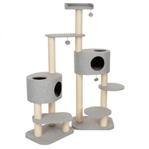 ZOOSHOP.ONLINE - Интернет-магазин зоотоваров - Домик угловой для кошек Modern Living Oxford серый H 156 см