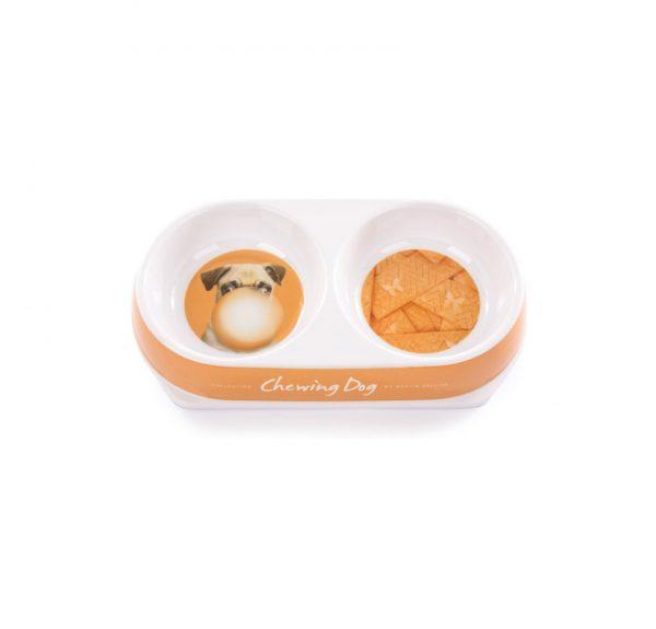 ZOOSHOP.ONLINE - Интернет-магазин зоотоваров - Двойная миска для собак и кошек Martin Sellier Gamelle 2x180 мл