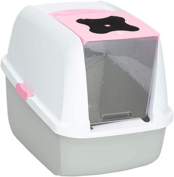 ZOOSHOP.ONLINE - Zoopreču internetveikals - Stiprinājumi tualetēm Catit Cat Pan, rozā krāsā
