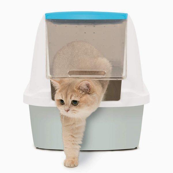 ZOOSHOP.ONLINE - Zoopreču internetveikals - Stiprinājumi tualetēm Catit Cat Pan, zilā krāsā