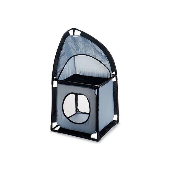 ZOOSHOP.ONLINE - Zoopreču internetveikals - Saliekama kaķu māja, pelēka 35,5 x 69 x 35,5 cm
