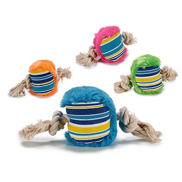 ZOOSHOP.ONLINE - Интернет-магазин зоотоваров - Игрушка для собак Веревка с мягким мячиком 12 х 9 х 20 см
