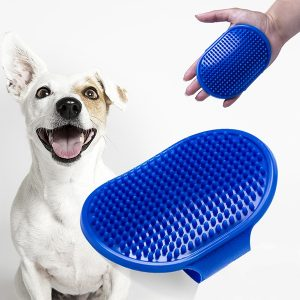 ZOOSHOP.ONLINE - Интернет-магазин зоотоваров - Массажная щетка для собак 8,7 x 12,8 x 1 см