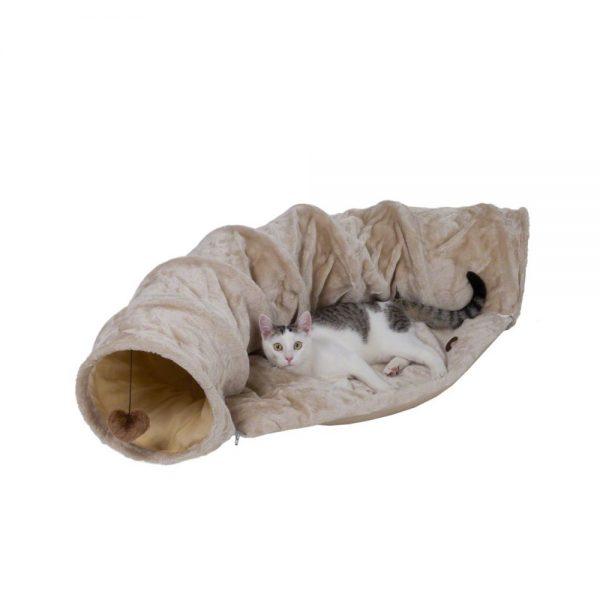 ZOOSHOP.ONLINE - Интернет-магазин зоотоваров - Туннель для кошек 116 см, плюшевый (бежевый)