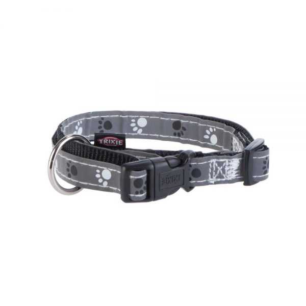 ZOOSHOP.ONLINE - Zoopreču internetveikals - Trixie atstarojošā kakla siksna Silver Reflect M-L: 35 - 55 cm / 20 mm