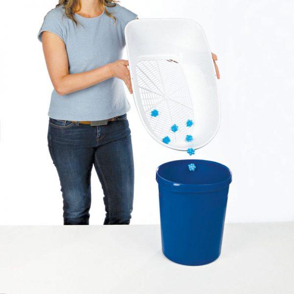 ZOOSHOP.ONLINE - Интернет-магазин зоотоваров - Туалет для кошек Trixie Berto 39 х 22 х 59 см, синий